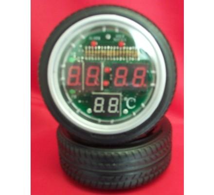 Horloge /réveil digital forme pneu