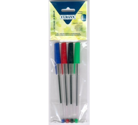 Stylo bille x 4 assortis