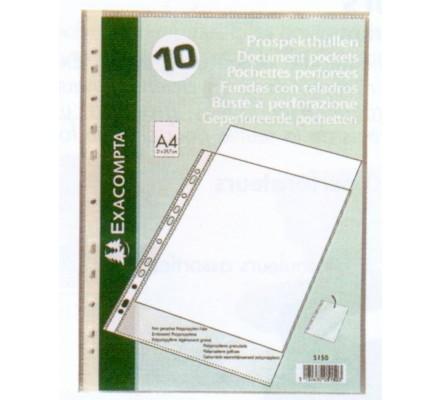 Pochettes perforées en polypro x 10