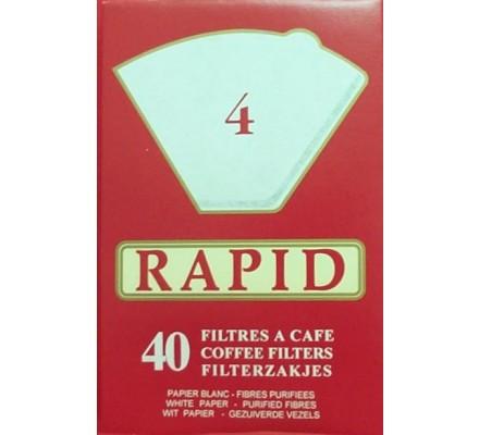 Filtres à café N° 4 x 40 pièces