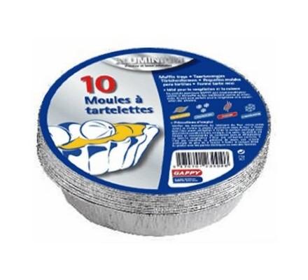 Moules alu pour tartelettes x 10