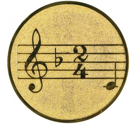 Centre  musique diamètre 25