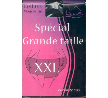 Collant mousse Noir XXL