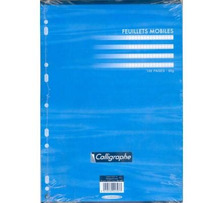 Feuillets mobiles A 4 - blanc - 100 p - 5x5