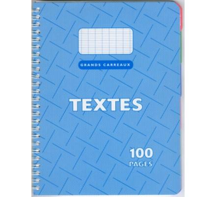 Cahier de Textes spirales 17x22 - 100 p