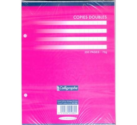Copies doubles perforées 17x22 - 200 p - séyès