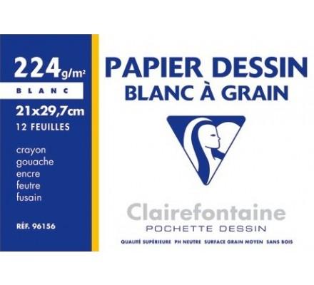 Papier dessin A4 - 12 feuilles - 224 g
