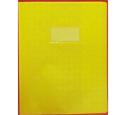 Protège-cahier 21x29,7 opaque Jaune