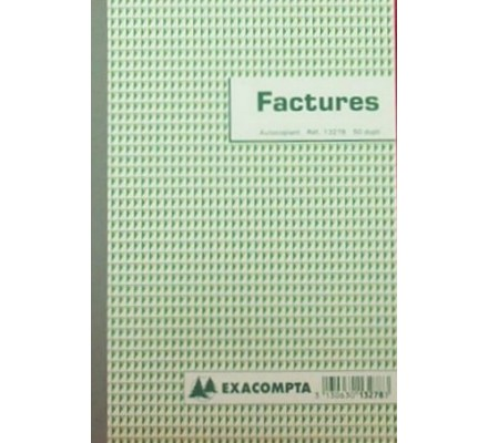 Carnet Factures - 50 Dupli