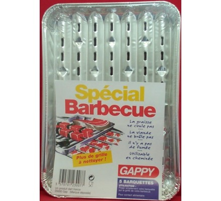 5 grilles spécial barbecue
