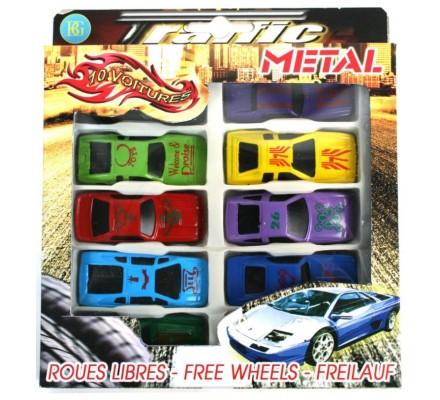 10 voitures en métal / 7 cm