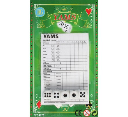 Jeu de yam's + 5 dés
