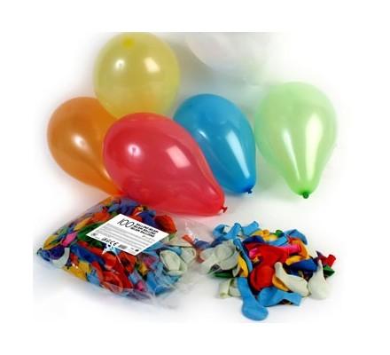 Ballons hélium assortis x 100