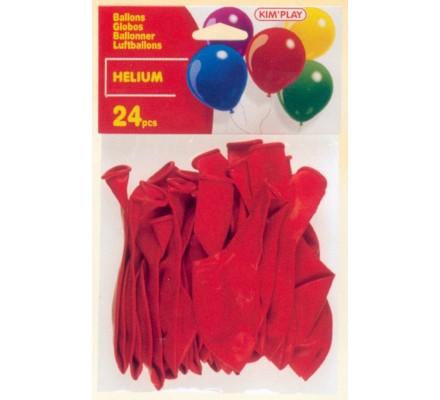 24 ballons Hélium à gonfler / Rouge