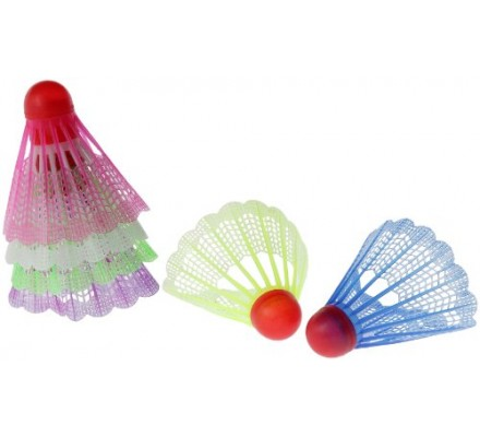 Lot de 6 volants badminton