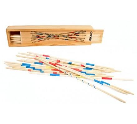 Jeu de mikado / boîte en bois