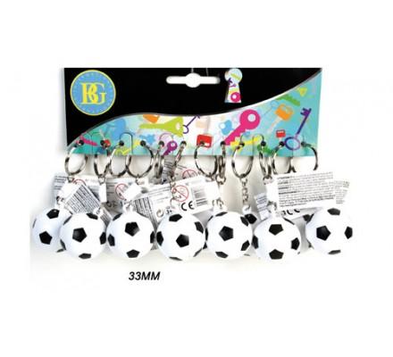 Porte-clés ballon de foot x 12