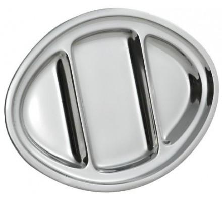 Plat ovale en inox 35 x 25 cm