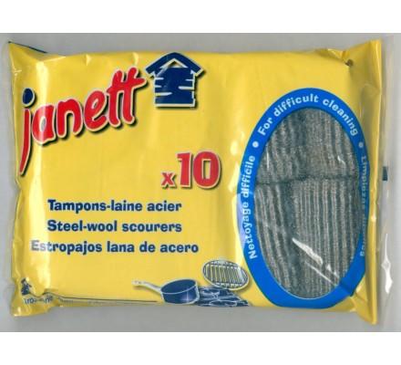 Tampons laine d'acier x 10