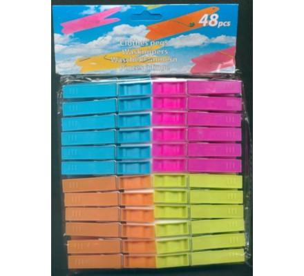 48 pinces à linge en plastique