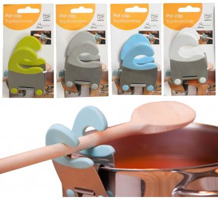 Clip porte-spatule pour casseroles