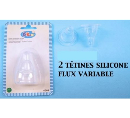 2 tétines en silicone / flux variable