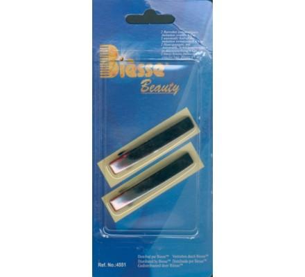2 barrettes automatiques 6 cm (pour cheveux)