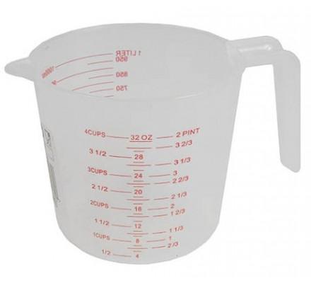 Verre gradué plastique / 1 litre