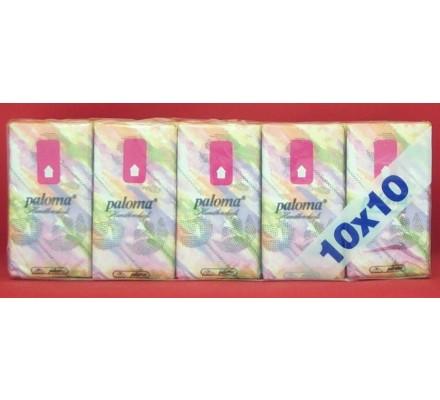Mouchoirs en papier 10 paquets x 10