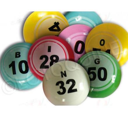 Balles loto numérotées de 1 à 90