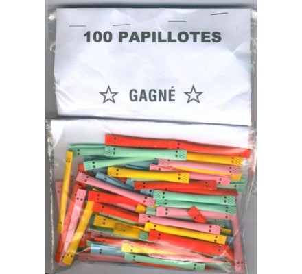 Papillotes pour stands x 100  'GAGNE'