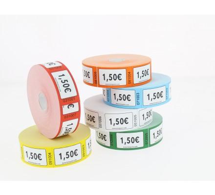 Ticket stand valeur 1€50 - Rouleau de 1000