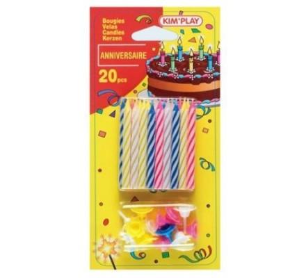 Bougies anniversaire x 20