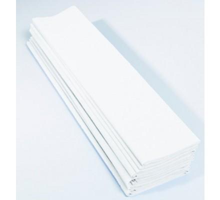 Papier crépon 40 % - 10 feuilles - Blanc