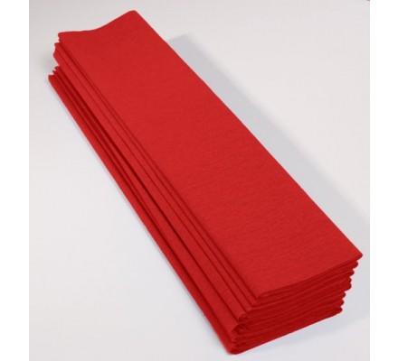 Papier crépon 40 % - 10 feuilles - Rouge