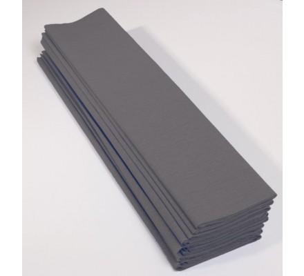Papier crépon 40 % - 10 feuilles - Gris