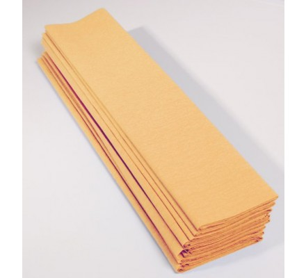 Papier crépon 40 % - 10 feuilles - Abricot