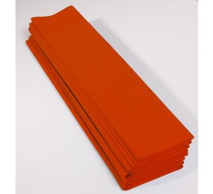 Papier crépon 40 % - 10 feuilles - Orange