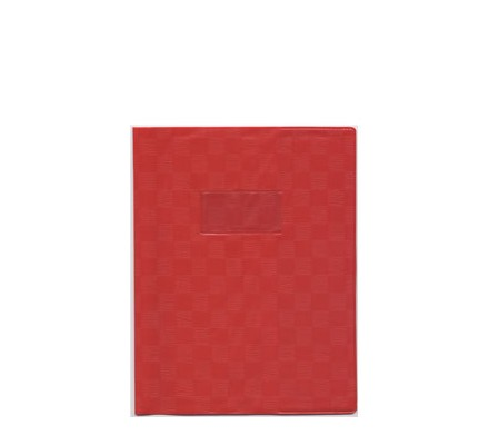 Protège-cahier opaque 17x22 Rouge