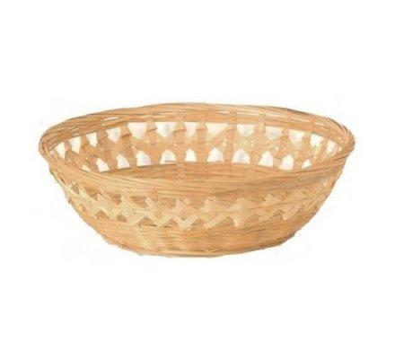 Corbeille bambou ajourée ronde