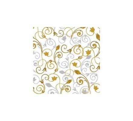 20 serviettes en papier 33 x 33 cm / Ornament white