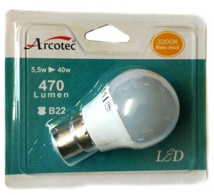 Ampoule LED sphère - B22 / 5,5W=40W