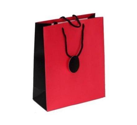 Sac carton rouge et noir