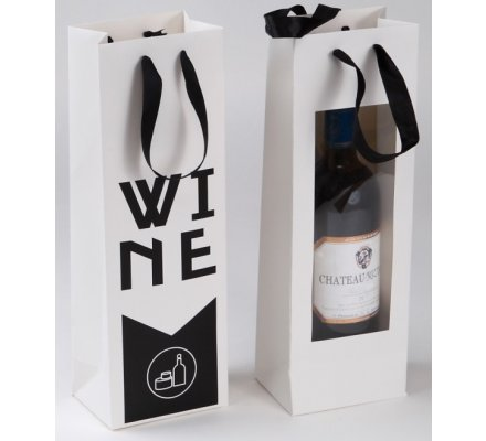 "Sac carton 1 bouteille ""wine"""
