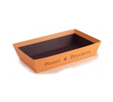 Corbeille en carton ''Plaisirs et Douceurs'' PM