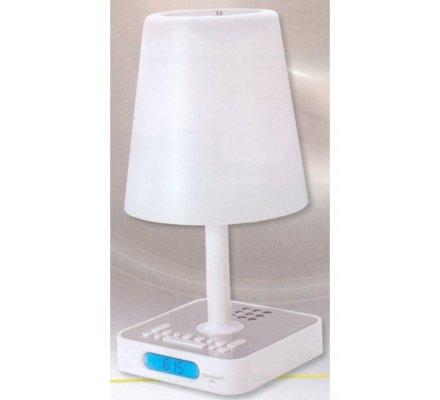 Lampe radio-réveil FM