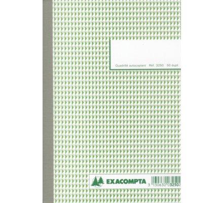 Carnet quadrillé A5 - 50 Dupli