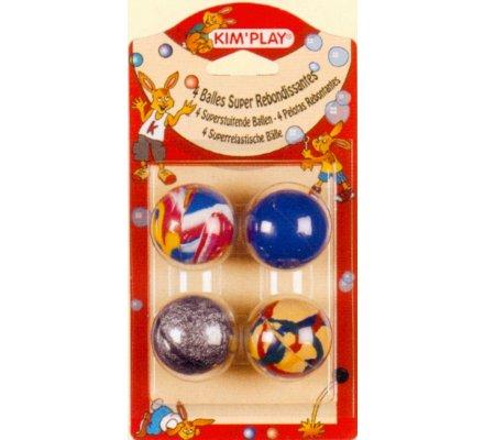 Balles rebondissantes x 4