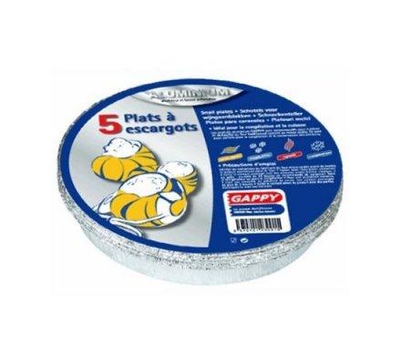 Plats en alu pour escargots x 5