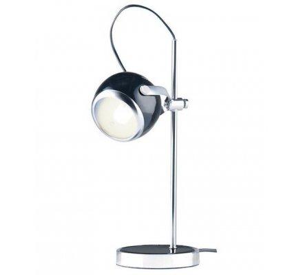 Lampe de bureau noire en métal